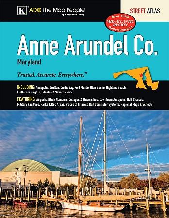 Anne Arundel County Street ATLAS, Maryland, America.