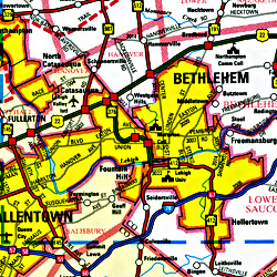 Bethlehem and Easton, Pennsylvania, America.