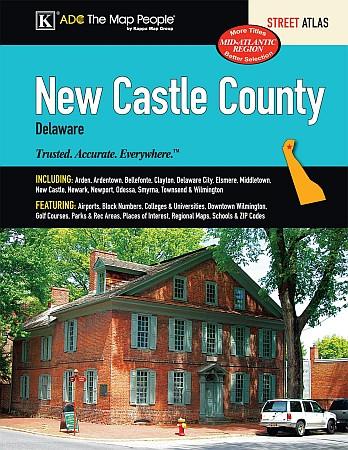New Castle County Street ATLAS, Delaware, America.