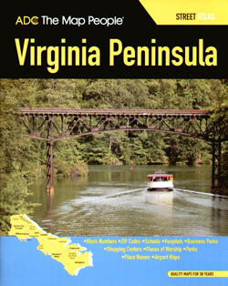 Virginia Peninsula Street ATLAS, Virginia, America.