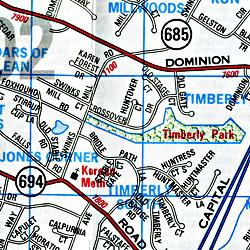 "Washington DC ""Metro"" WALL MAP, America."