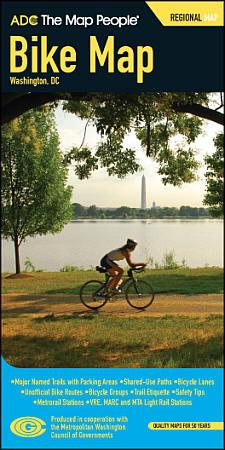 Washington DC Regional Bike Map, America.