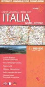 Italy North-Central Road and Tourist Map.