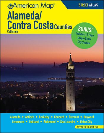 Alameda and Contra Costa Street ATLAS, California, America.