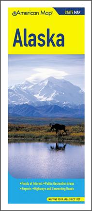 Alaska Road Map, America.