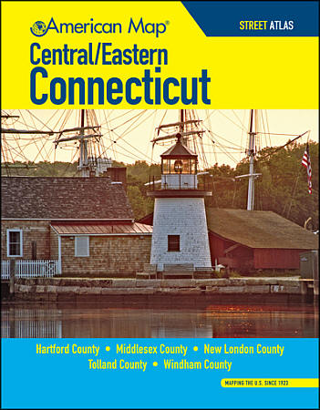 Connecticut Central and Eastern Street ATLAS, Connecticut, America.