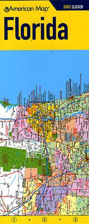 "Florida ""StateSlicker"" Road and Tourist Map, America."