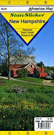 "New Hampshire ""StateSlicker"" Road and Tourist Map, America."