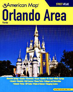 ORLANDO Street ATLAS, Florida, America.