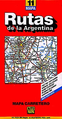Argentina Road and Shaded Relief Map.