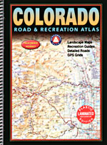 Colorado LAMINATED Road and Recreation Atlas, America.