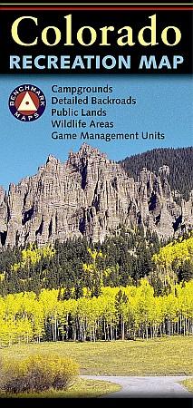 Colorado Road and Recreation Map, Colorado, America.