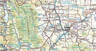 Montana Road and Recreation Atlas, America.