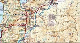 Nevada Road and Recreation Atlas, America.