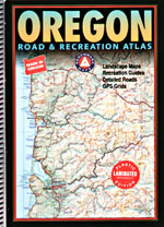 Oregon LAMINATED Road and Recreation Atlas, America.