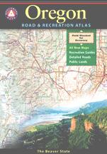 Oregon Road and Recreation Atlas, America.