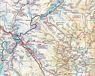 Utah Road and Recreation Atlas, America.