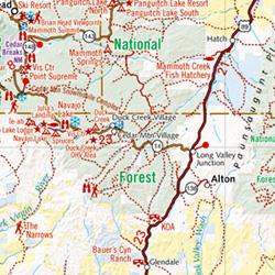 Utah Road and Recreation Map, America.