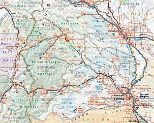 Washington State LAMINATED Road and Recreation Atlas, America.