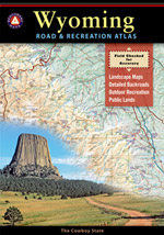 Wyoming Road and Recreation Atlas, America.