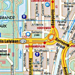 AMSTERDAM City Street Map, Netherlands.