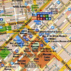 California North Road and Tourist Map.