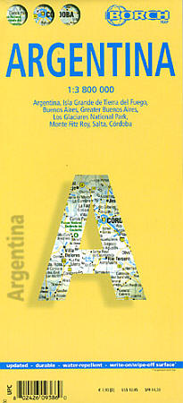 Argentina Road and Tourist Map.