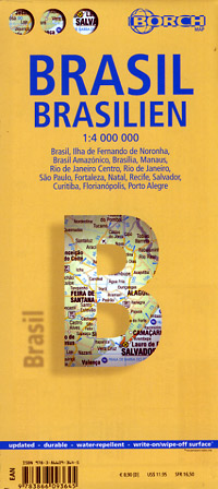 Brazil Road and Tourist Map.