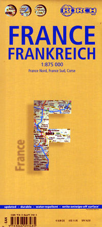 Borch France Road Map, Travel, Tourist, Detailed, Street.