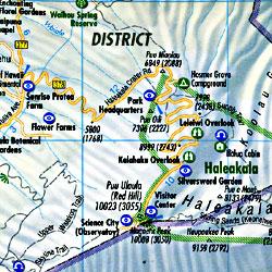 Hawaii Road and Tourist Map, Hawaii State, America.