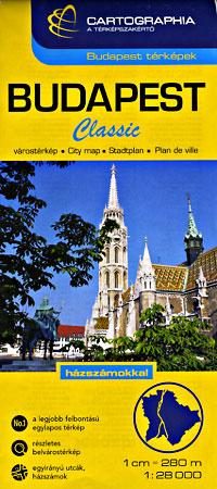 "Budapest ""Metropolitan"" Map, Hungary."