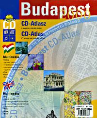 BUDAPEST Street ATLAS with CD-ROM, Hungary.