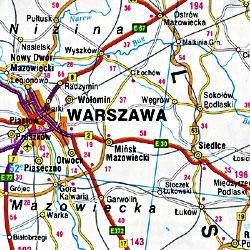 Ukraine, Moldova & BeloRussia, Road and Shaded Relief Tourist Map.