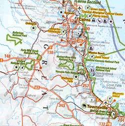 Australia Road and Tourist Map.