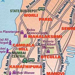 India, Pakistan, Bangladesh, and Sri Lanka, Road and Tourist Map.