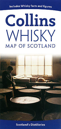 """Scotland """"Whiskey"""" Road and Shaded Relief Map."""
