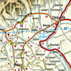 Serbia and Montenegro, Road and Shaded Relief Tourist Map.