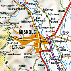 Slovak Republic Road and Tourist Map.