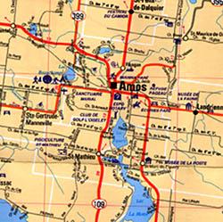 Quebec Province Regional Tourist Road Map (Abitibi-Temiscamingue) #01, Canada.