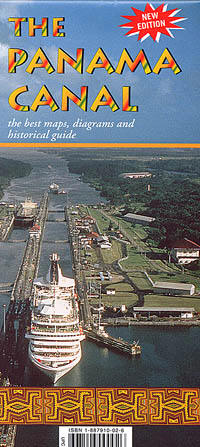 Panama Canal Illustrated Guide Map.