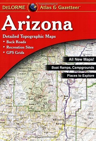 Arizona Road, Topographic, and Shaded Relief Tourist ATLAS and Gazetteer, America.