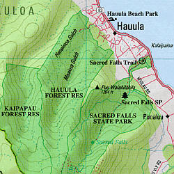 Hawaii State Road, Topographic, and Shaded Relief Tourist ATLAS and Gazetteer, America.
