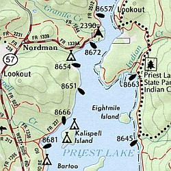 Idaho Road, Topographic, and Shaded Relief Tourist ATLAS and Gazetteer, America.