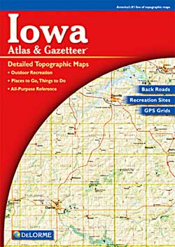 Iowa Road, Topographic, and Shaded Relief Tourist ATLAS and Gazetteer, America.