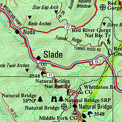 Kentucky Road, Topographic, and Shaded Relief Tourist ATLAS and Gazetteer, America.