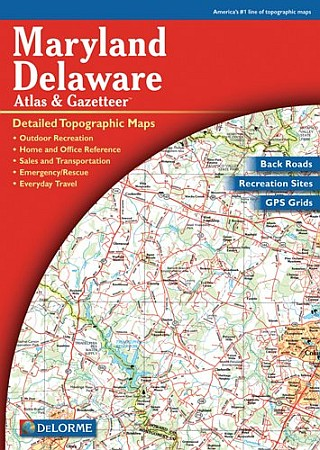 Maryland and Delaware State Road ATLAS , America.