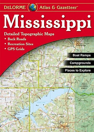 Mississippi Road, Topographic, and Shaded Relief Tourist ATLAS and Gazetteer, America.