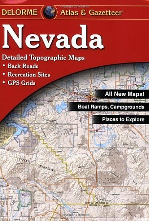 Nevada Road, Topographic, and Shaded Relief Tourist ATLAS and Gazetteer, America.