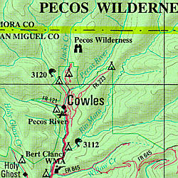 New Mexico Road, Topographic, and Shaded Relief Tourist ATLAS and Gazetteer, America.