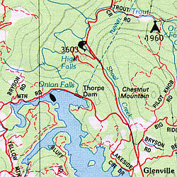 North Carolina Road, Topographic, and Shaded Relief Tourist ATLAS and Gazetteer, America.